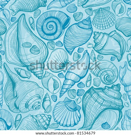 sea shell. seamless pattern #81534679
