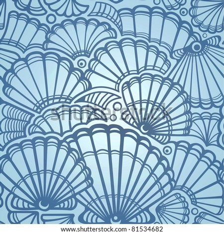sea shell. seamless pattern #81534682