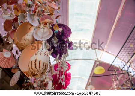 Sea shells handmade ornament handmade. Ayvalik was taken on the island of Cunda. #1461647585