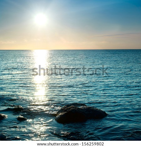 Sea shore and stones. Seascape at sunset. #156259802