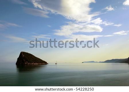 Sea, Sky and island