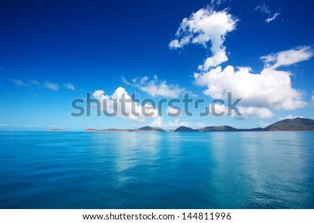 Sea sky cloud and islands