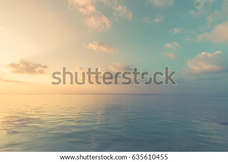 Sea sky clouds, horizon, horizontal background banner #635610455