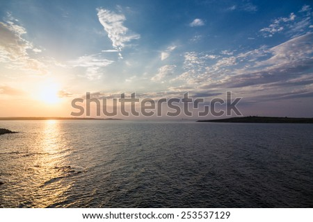 sea sky sunset sun landscape