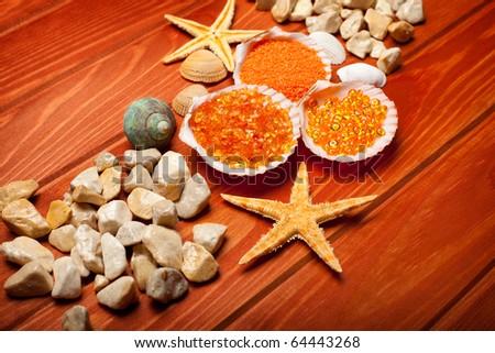 Sea Spa - bath salt and sea-shell
