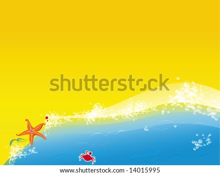 sea star at the seashore.  To see similar, please VISIT MY GALLERY. - stock photo