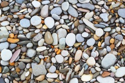 Sea stones background.