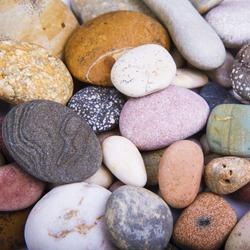 Sea stones background