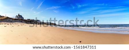 Sea Street Beach in Dennis, Massachusetts on Cape Cod in the fall. Zdjęcia stock ©