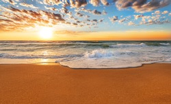 Sea sunrise.