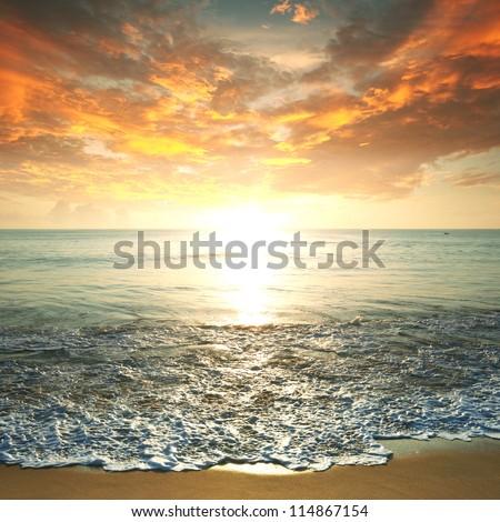 sea sunset #114867154