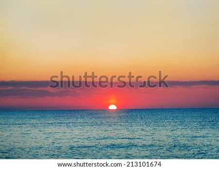 sea sunset #213101674