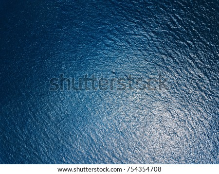 Sea surface aerial view #754354708
