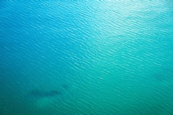 Sea surface aerial view. Beautiful blue ocean as background