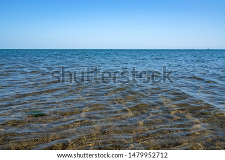 Sea surface with sand bottom #1479952712