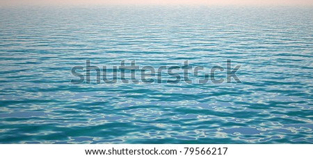 Sea surface with wave