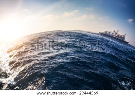 Sea travel around the world. - stock photo