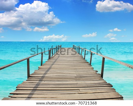 Sea travel in the holidays stock photo