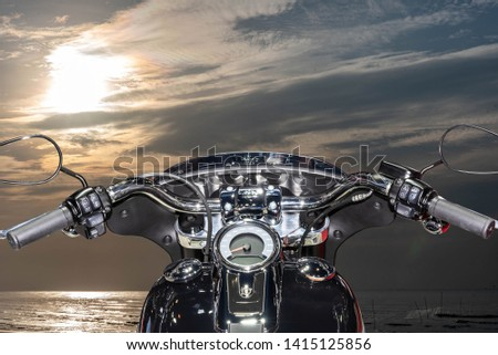 Sea travel motorcycle Leisure travel #1415125856