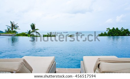 Sea View From Pool #456517594