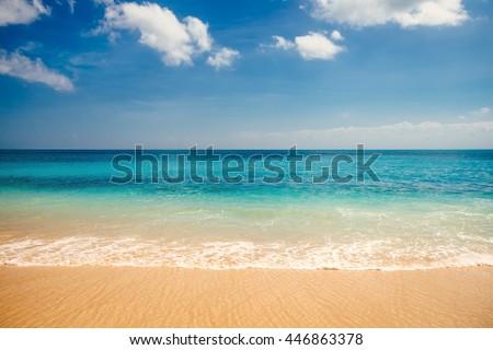 sea view from tropical beach...