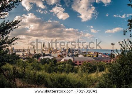 Sea view Odessa, Odessa region, Ukraine.12.27.2017 #781931041