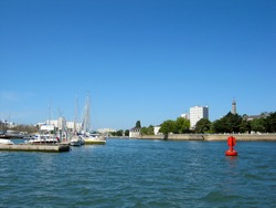 Sea view on Lorient, Brittany, France