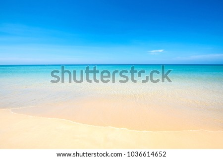 Sea view tropical beach with sunny sky of Phuket island. #1036614652
