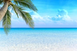 Sea view tropical sea with summer background.
