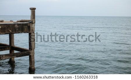 Sea view with the jetty bridge. #1160263318