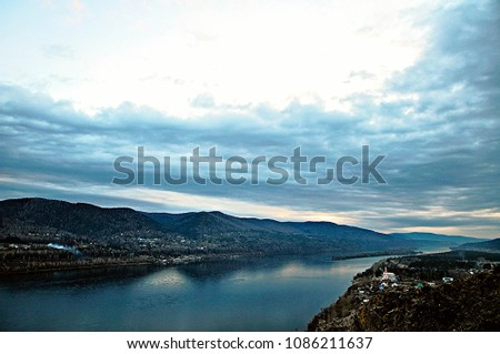 Sea views at dark day #1086211637
