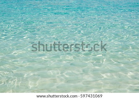 Sea Water of Indian Ocean on Similan Islands