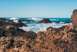 Sea Wave and rock; natural background