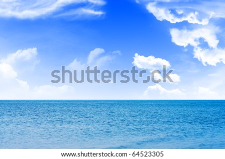 Sea waves and cloudy skies