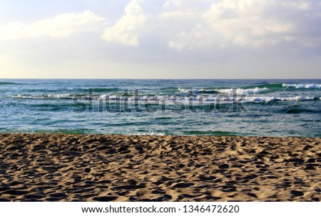 Sea waves on the beach of the Dominican Republic #1346472620