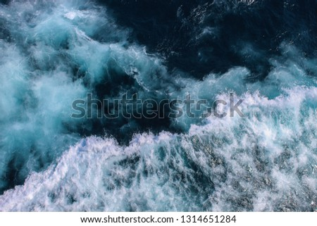 Sea waves photographed from above #1314651284