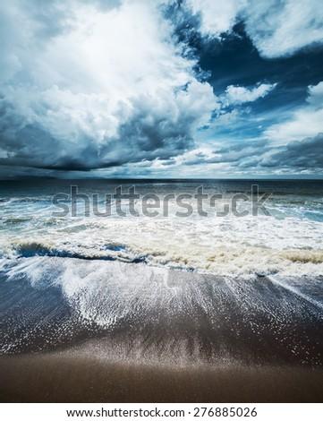 Sea weather. Tropical hurricane cyclone