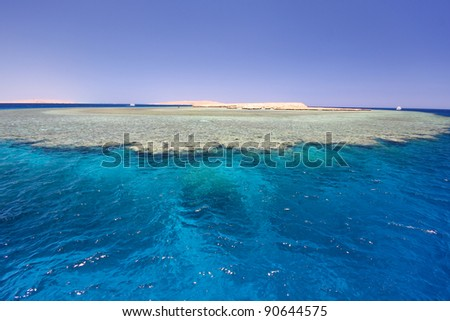 sea with coral reef, Egypt