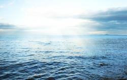 Sea with sunlight