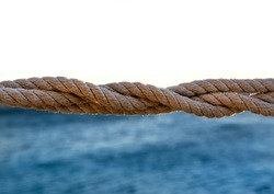 Seafaring rope background marine travel sea knot nautical life