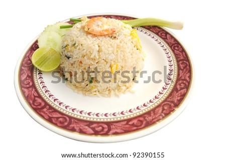 Seafood fried rice.