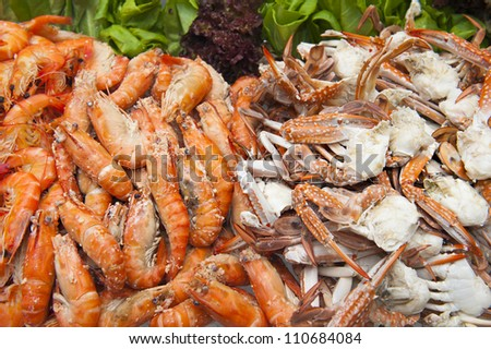 Seafood Party Platter, Shrimps and Crabs
