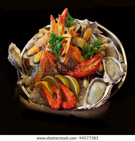 Seafood. Prepared Shellfish. Mediterranean.