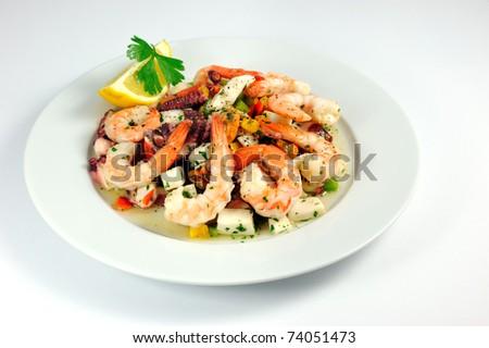Seafood Salad Frutti Di Mare Stock Photo 74051473 : Shutterstock