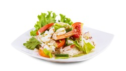 Seafood salad spicy food from Thailand Asia