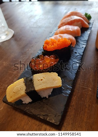 seafood sushi style #1149958541