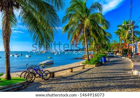 Seafront of Brigitte Bardot in Buzios, Rio de Janeiro, Brazil. Seascape of Buzios