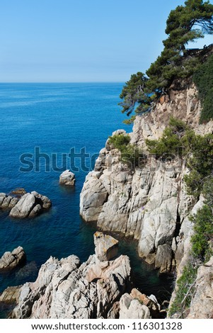 Seafront of Lloret de Mar Costa Brava Spain