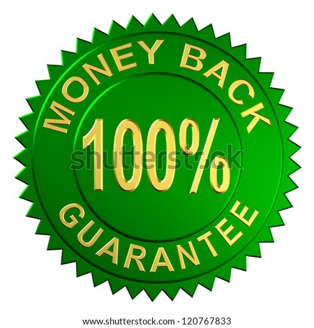 Seal Embossed with Money Back Guarantee