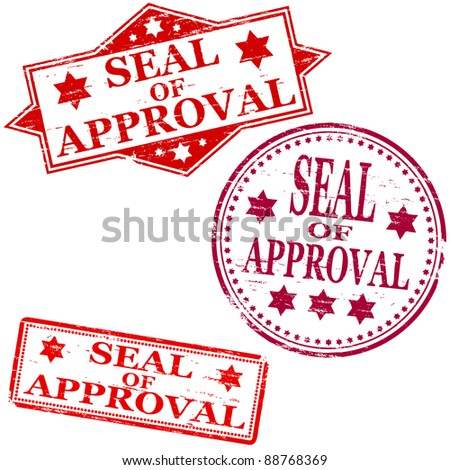 Seal of approval. Rubber stamp illustrations